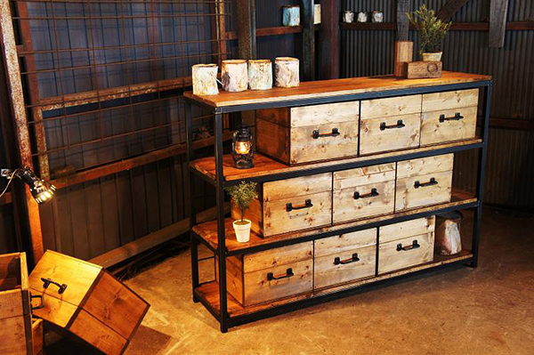 アイアン&ウッド 木箱 BOX ワイン ボックス